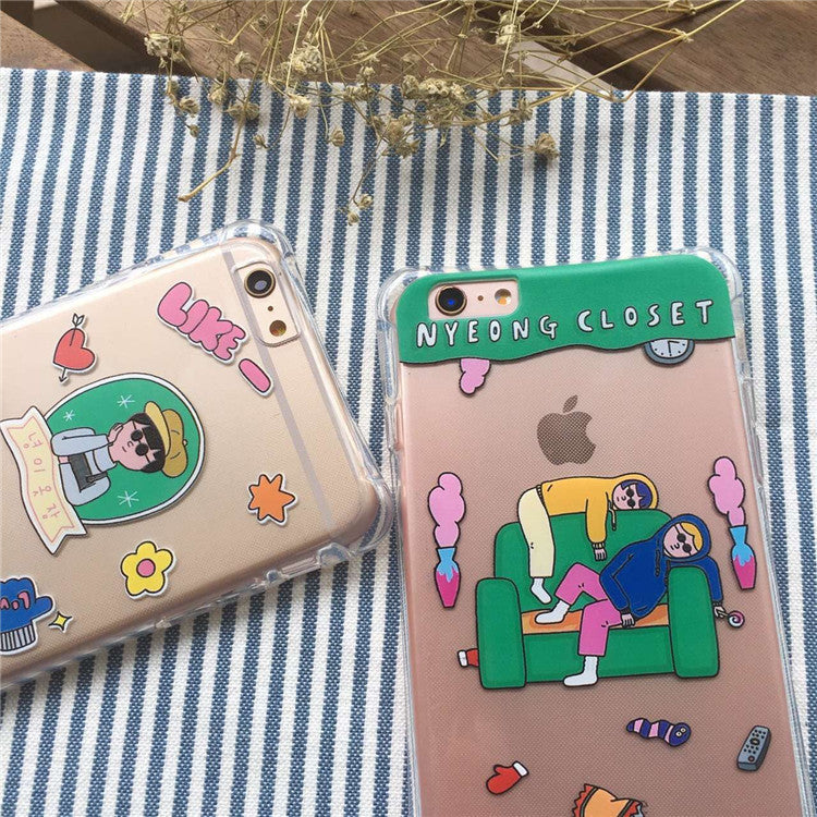 On Sale Stylish Hot Deal Iphone 6/6s Hot Sale Cute Couple Apple Iphone  Silicone Lovely Phone Case [6034116801]