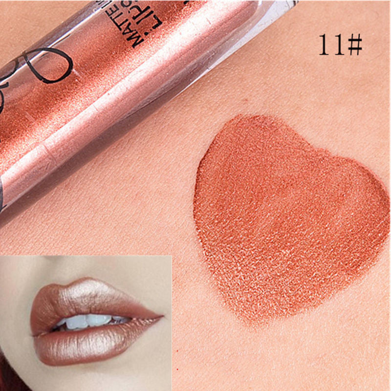 Waterproof Long Lasting Metallic Matte Liquid Lipsticks