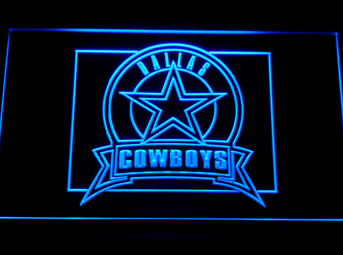 Dallas Cowboys Neon Sign On/Off 3 Colors