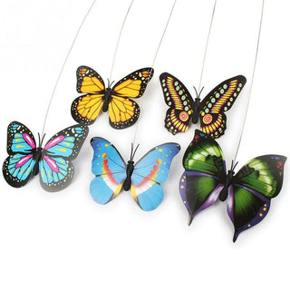 Electric Rotating Butterfly or Bird Steel Wire Cat Teaser