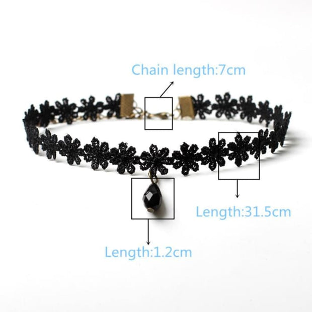 10 Pcs/pack Black Lace Leather Velet Strip Choker Necklace Torques Multilayers Collar Women Statement Jewelry