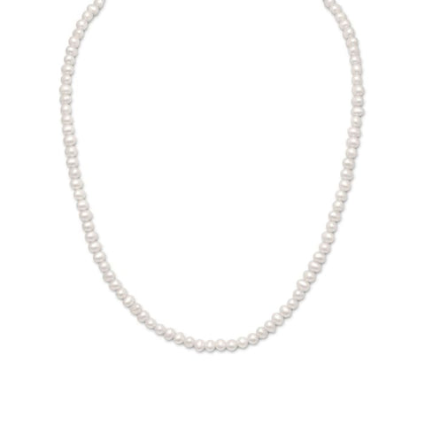 15+2 Extension White Cultured Freshwater Pearl Necklace Jewelry
