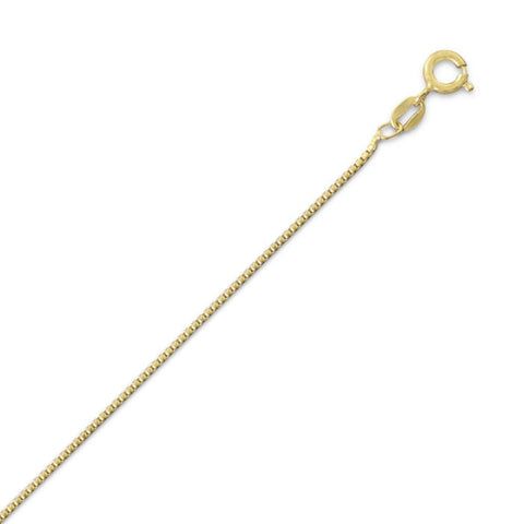 18K Gold Plated Light Box Chain (1Mm) Jewelry