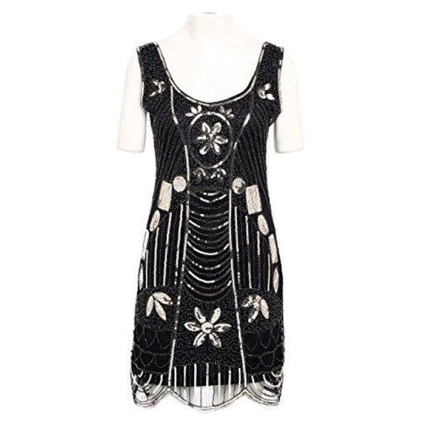 1920S Flapper Fancy Dress Roaring 20S Great Gatsby Dress