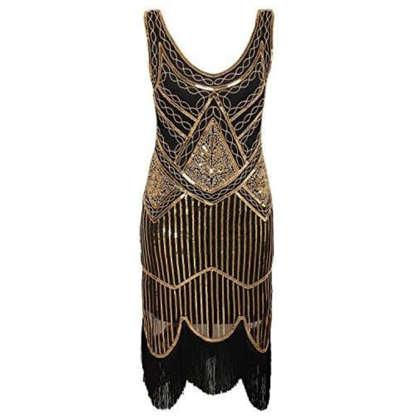 1920S Gastby Inspired Sequined Embellished Fringed Flapper Dress Back To Search Results For 1920 Dresses For Women
