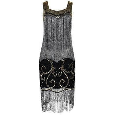 1920S Gatsby Flapper Dress Sequin Fringed Cocktail Dress