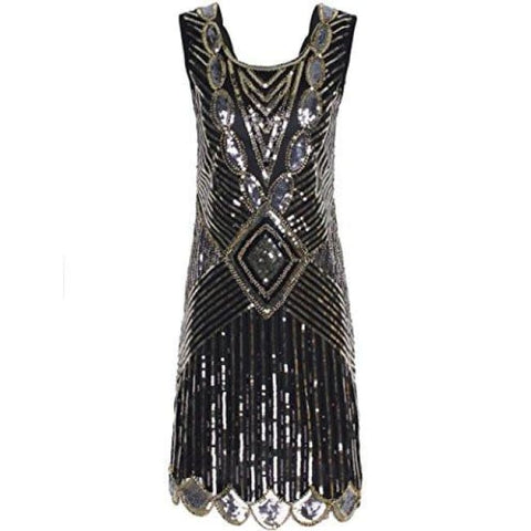 1920S Gatsby Sequin Art Deco Scalloped Hem Inspired Flapper Dress Back To Search Results For 1920 Dresses For Women