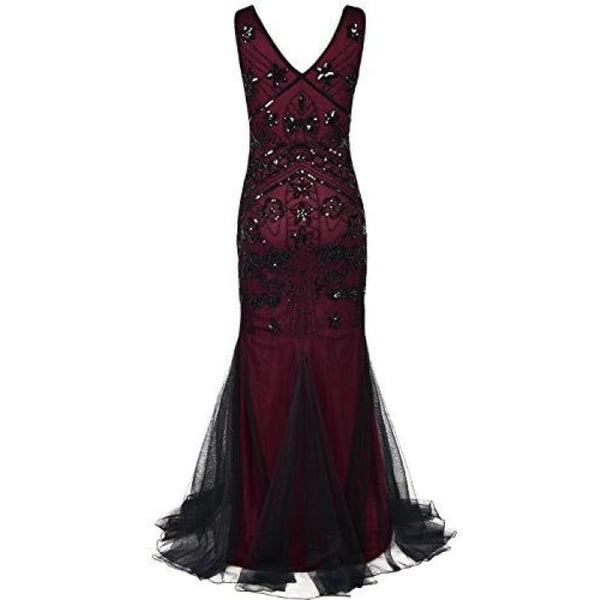 1920S Prom Gown Flapper Long Mermaid Formal Evening Dress