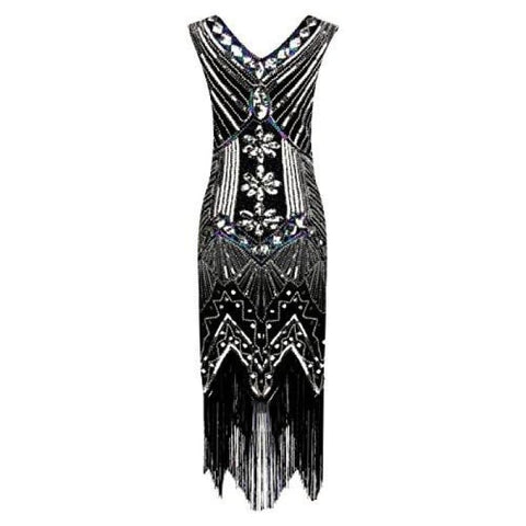 117e62fedb1c 1920S Retro Sequin Art Nouveau Embellished Fringed Flapper Dress Back To  Search Results For 1920 Dresses