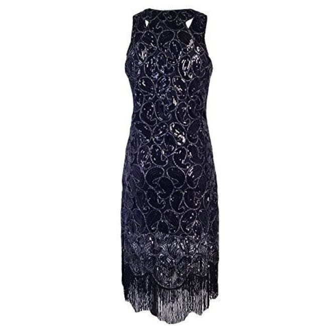0a081841c29 1920S Sequin Paisley Racer Back Tassels Flapper Cocktail Dress Back To  Search Results For 1920 Dresses