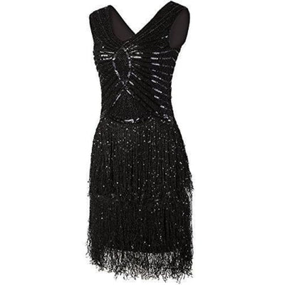 1920S Style Inspired Charleston Sequin Layer Tassel Cocktail Flapper Dress Back To Results