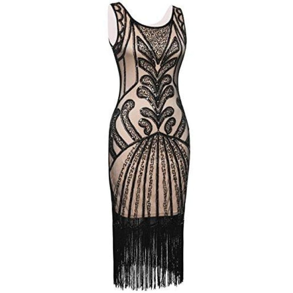 1920S Vintage Beads Art Deco Inspired Cocktail Flapper Dress Back To Prettyguide Store