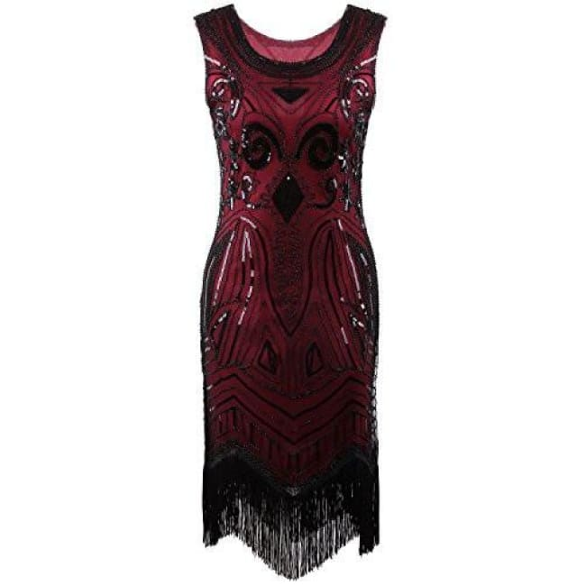 1920S Vintage Gatsby Bead Sequin Art Nouveau Deco Flapper Dress Back To  Search Results For 1920 dfd418f1ad1e