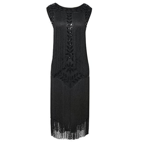 29a9a1ca 1920S Vintage Sequin Full Fringed Deco Inspired Flapper Dress Back To  Prettyguide Store