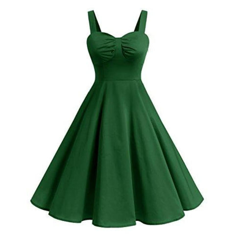 1950S Retro Audrey Swing Pinup Rockabilly Dress Pleated Vintage Dress Back To Results