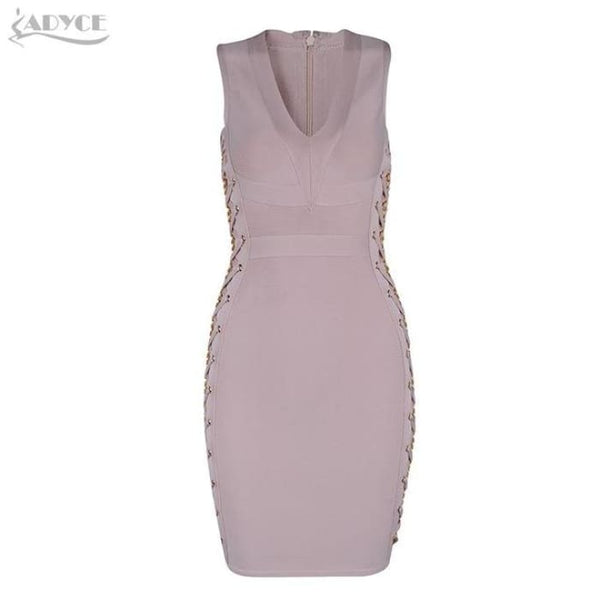 2018 New Women Spring Bandage Dress V-Neck Mini Dresses 02 / Xs Dresses