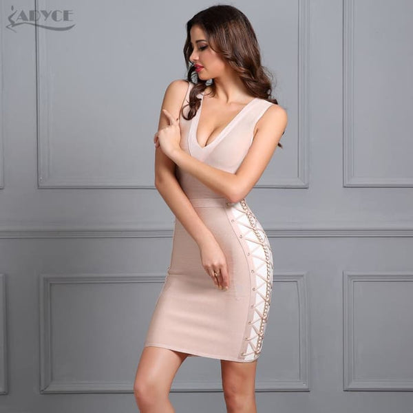 2018 New Women Spring Bandage Dress V-Neck Mini Dresses Dresses