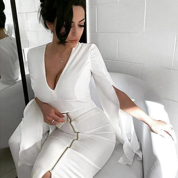 ADYCE 2019 New Summer Women Female Pencil Bandage Skirt Sexy High Waist Midi White Celebrity Party Skirts Elastic Bodycon Skirts