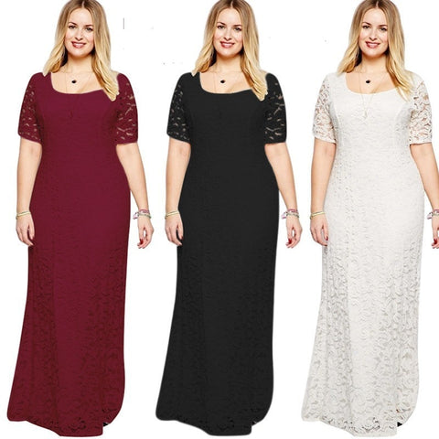 Lace Evening Dresses CG00041 Women Cheap Long Short Sleeve A line Burgundy Plus Size Evening Party Gowns Abendkleider 2019