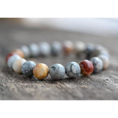 8Mm Sky Eye Jasper Bracelet Gemstone Bracelet Mens Bracelet Womens Bead Bracelet Stacking Healing Stone Yoga Bracelet Gifts