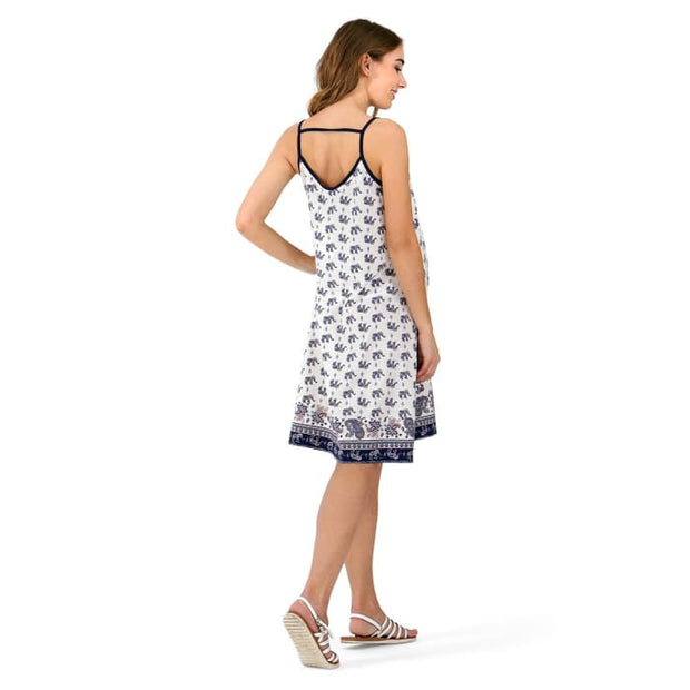 Amaro maternity and nursing Sundress ; color: white/blue 2_Maternity
