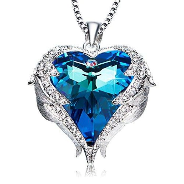 Angel Wing Mothers Day Gifts Love Heart Necklaces For Women Gifts For Women Girls