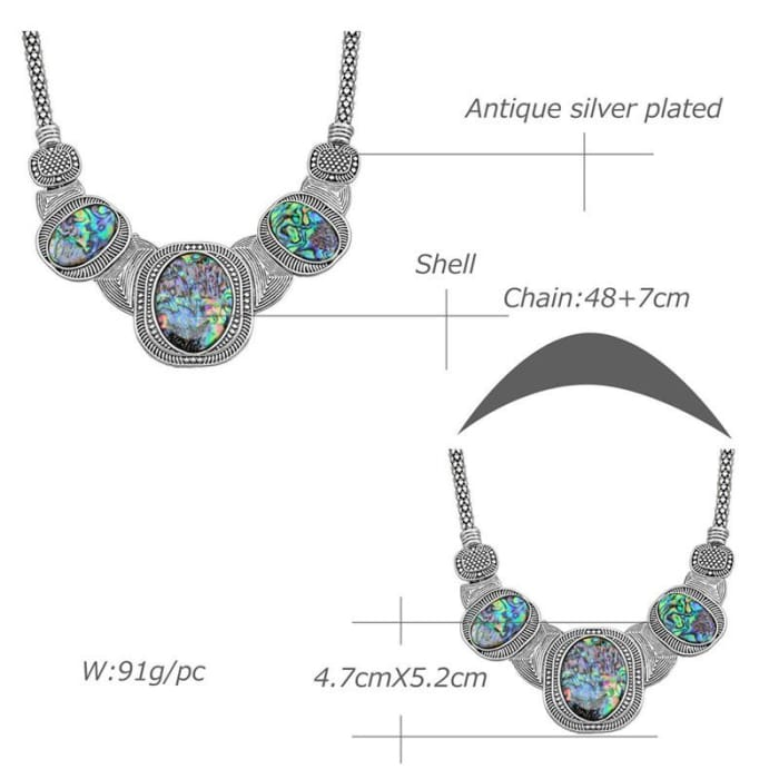 Anstory Fashion Square Shell Chokers Necklace Bohemian Popcorn Chain Antique Jewelry For Women Party Gift Tn335
