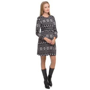 Anthea Maternity and nursing dress in black Maternity