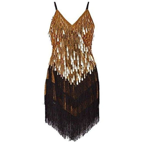 Art Deco 1920S Gatsby Tassel Fringe Sway Flapper Costume Dress Back To Kayamiya Store