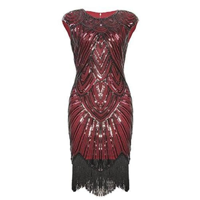 73090c2582f Art Deco Great Gatsby Inspired Tassel Beaded 1920S Flapper Dress Back To  Results