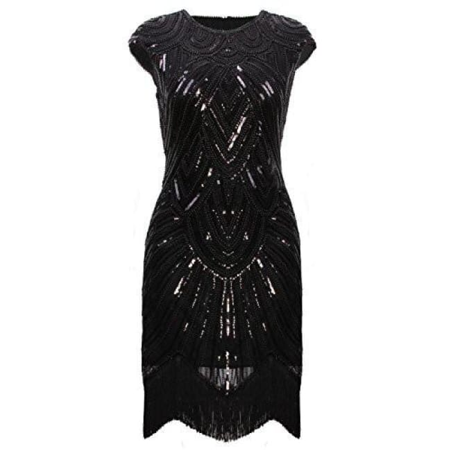 e4a61ab4942 ... Art Deco Great Gatsby Inspired Tassel Beaded 1920S Flapper Dress Back  To Results ...