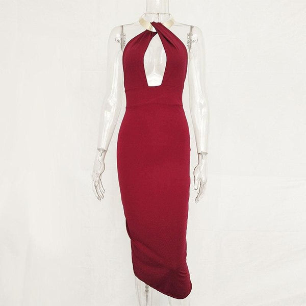 Articat Hollow Out Party Bodycon Womens Bandage Dress Dresses