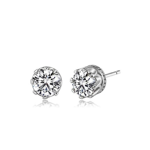 Austrian Crystal White Crown Earrings
