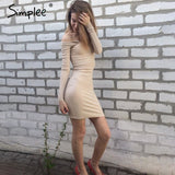 Autumn One Shoulder Sexy Bodycon Dress Dresses