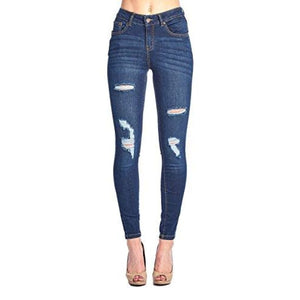 Blue Age Womens Butt-Lifting Skinny Jeans Jp1054_Dark Wash / 1 Jeans