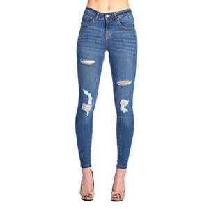 Blue Age Womens Butt-Lifting Skinny Jeans Jp1054_Medium Wash / 1 Jeans
