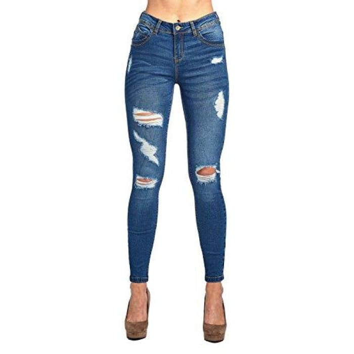 Blue Age Womens Butt-Lifting Skinny Jeans Jp1063_Medium Wash / 1 Jeans