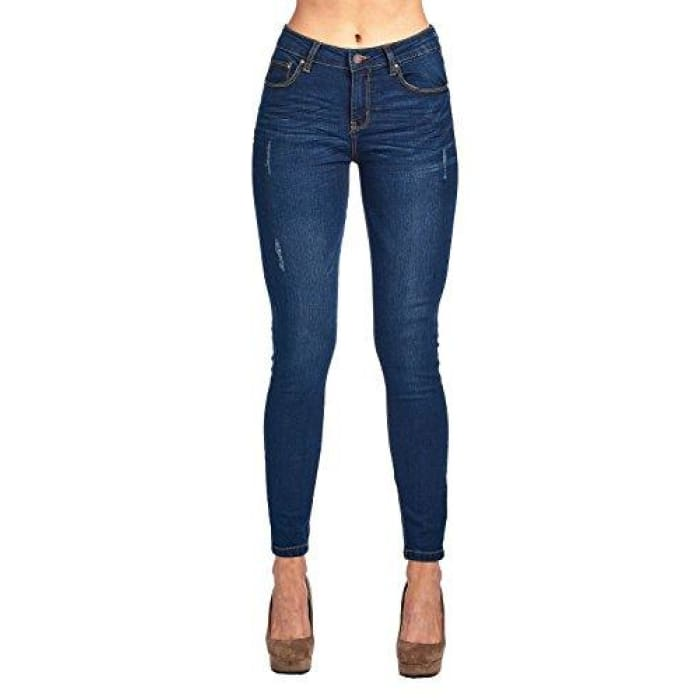 Blue Age Womens Butt-Lifting Skinny Jeans Jp1064_Dark Wash / 1 Jeans