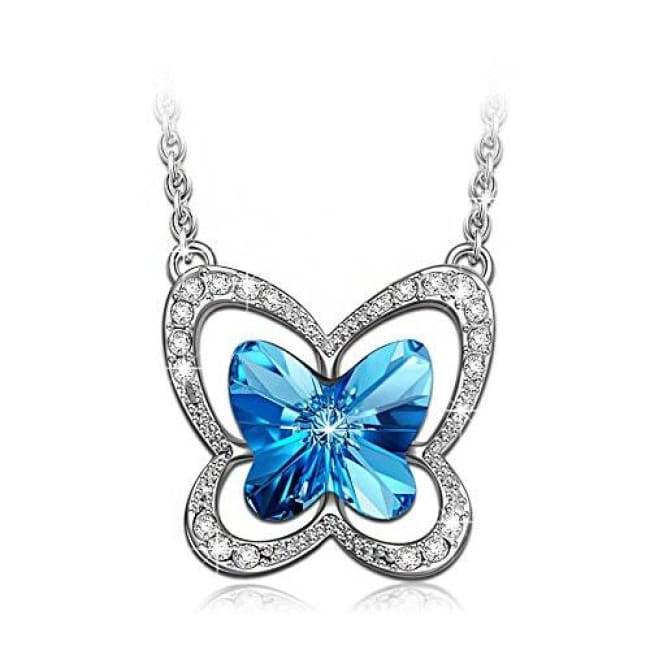 Blue Butterfly Made With Swarovski Crystals Back To Lady Colour Store