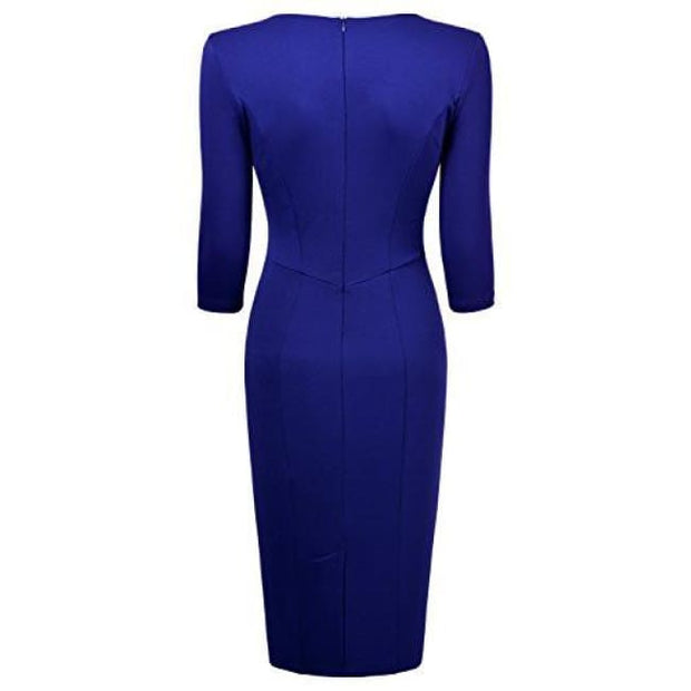 Business Tunic 3/4 Sleeve Slimming Body-Con Pencil Dress Back To Results
