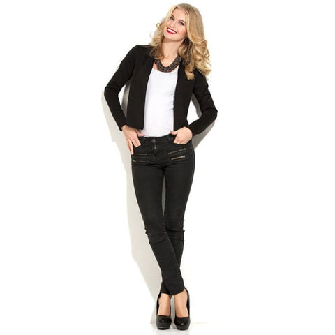 Cardigan DSK-23-4 black Jersey cropped