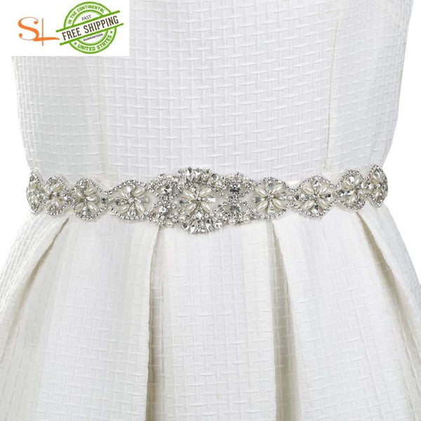 Crystal Bridal Sash Belt And Beaded Wedding Clothing Accessories Belts & Cummerbunds