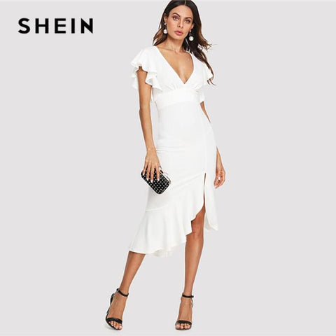 Deep V Neck Dress Summer Women Going Out Dress