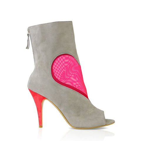 Deeva Mesh Heart Ankle Boot Women - Shoes - Booties
