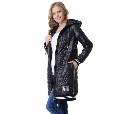 Demi-season jacket Norwich; black colour