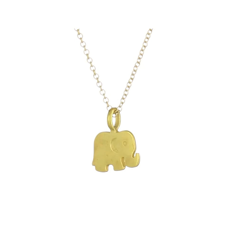 Dogeared Reminder Good Luck Elephant Pendant Necklace Fashion