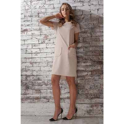 Dress cherry; color: beige