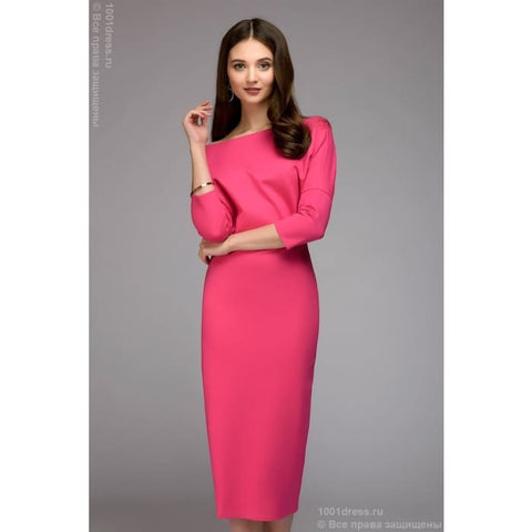 Dress DM00898FA MIDI length with free top; color: fuchsia