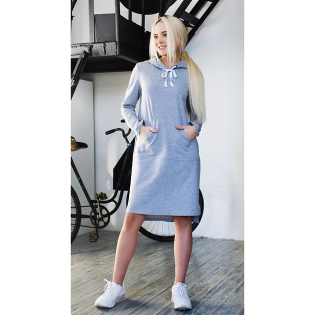 Dress Maurycy light Heather grey