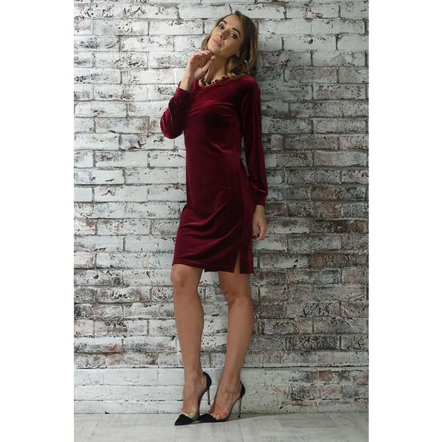 Dress Monica color: Bordeaux
